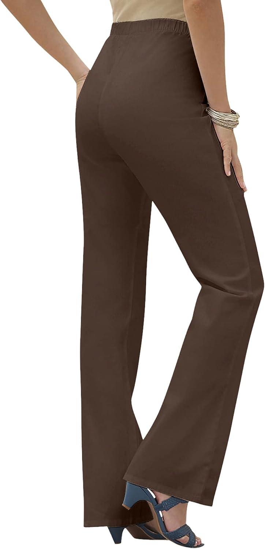 Roamans Women's Plus Size Petite Bootcut Pull-On Stretch Jean Elastic Waist