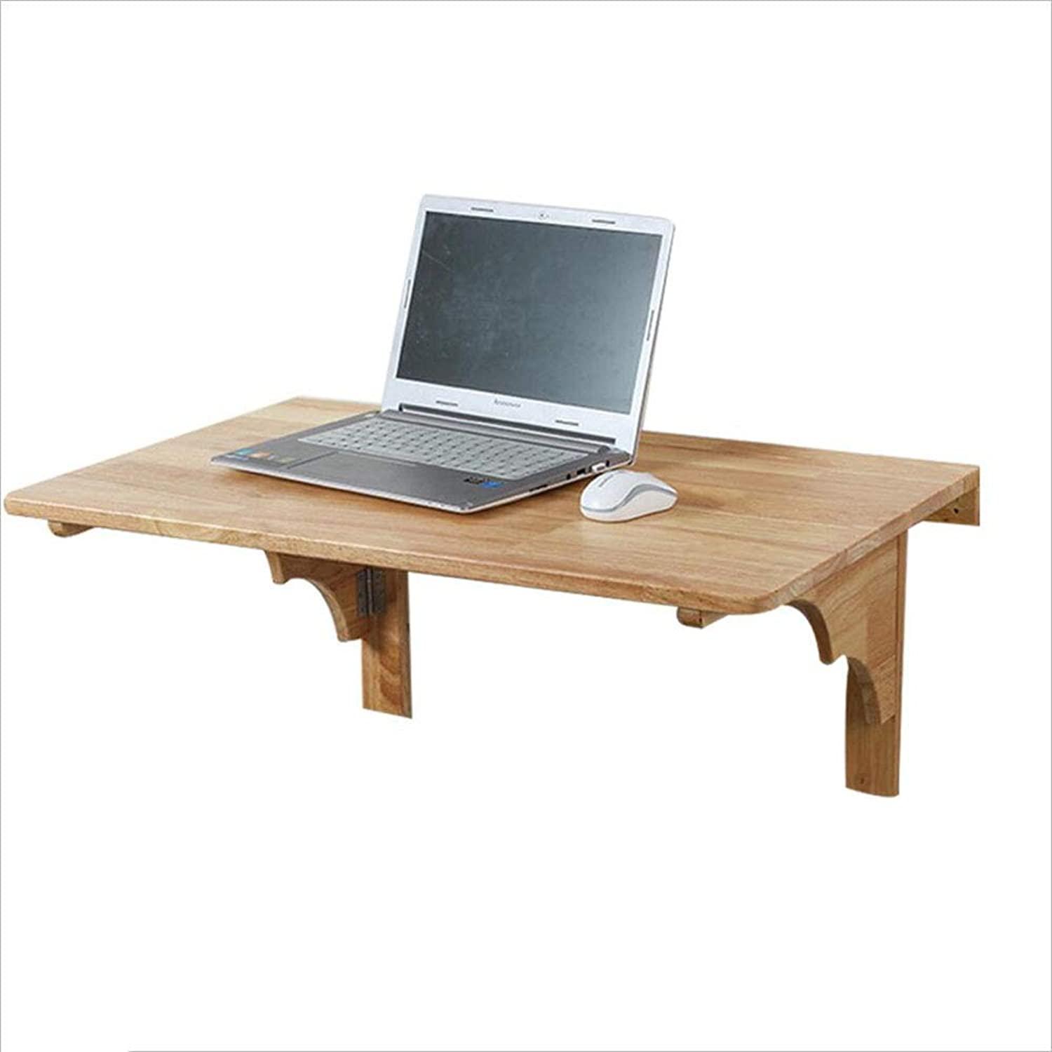 Folding Table Solid Wood Wall-Mounted Table Computer Table Dining Table Desk   Wall Table (Size   60cm40cm)