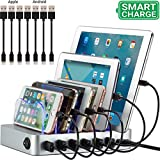 Simicore Charging Station for Multiple Devices, Simicore 6-Port USB Charger Station with 7 Shor…