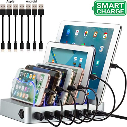 Simicore Smart Charging Station Dock & Organizer for Smartphones, Tablets & Other...