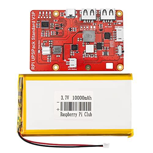 Raspberry Piリチウム電池の拡張ボード ラズベリーパイ 拡張ボード Raspberry Pi4バッテリーパックUPS 最新バージョンV3 Raspberry Pi 4B 3B+ Pi 3B 2B+ (Large)
