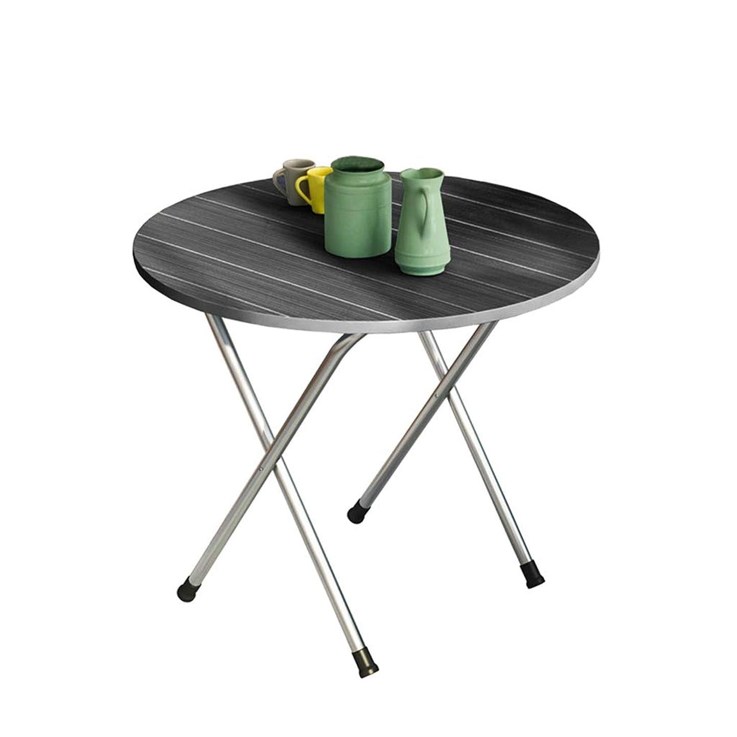 サスティーン特権的蛾ラウンド小さなテーブル、家庭用屋外ピクニックテーブルポータブルキッチン小さなダイニングテーブル折りたたみテーブル保存スペース (Color : A, Size : 60*60*50CM)
