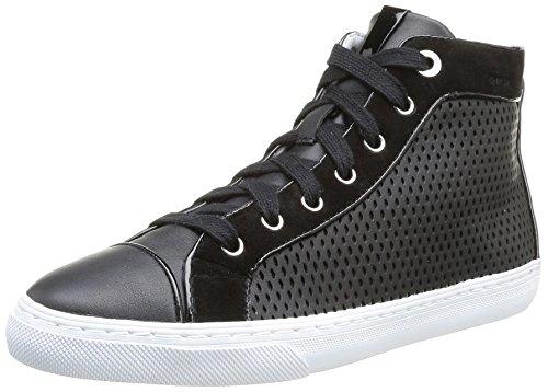 Geox D New Club B, Sneaker Donna Nero Black (Nero) 37