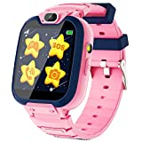 Kids Smart Watch for Boys Girls, Kids Phone Watch with Calls Games Music Player Camera Alarm Clock Calculator SOS Calendar Touch Screen Flashlight Smartwatch for 4-12 Years Old Birthday Gift (Pink)