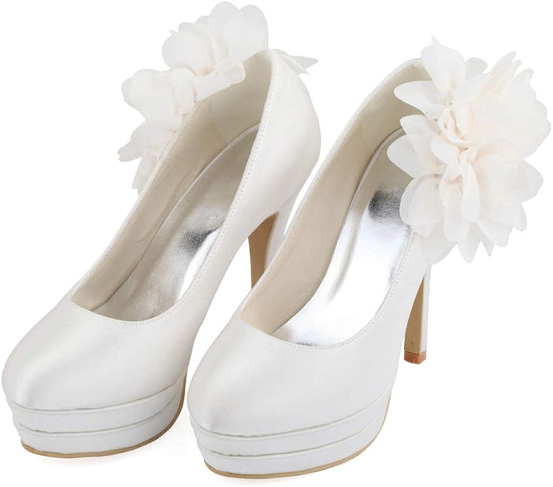 SERAPH MZ996 Frauen Braut Pumps Closed Toe Plattform High Heel Satin Blaume Abend Party Hochzeit Schuhe
