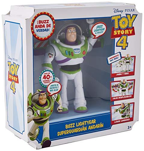 Disney Pixar Toy Story 4 Figurine Parlante Buzz l'Éclair Super Action, version espagnole, jouet pour enfant, GGH43