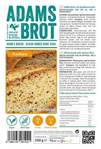 Adams Brot HELL - Brotbackmischung Basis Eiweißbrot mit Gold Leinsamen (500)