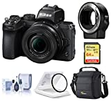 Nikon Z 50 DX-Format Mirrorless Camera with 16-50mm f/3.5-6.3 VR Lens, Bundle with FTZ Mount Adapter...