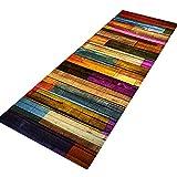 Tappeto antiscivolo, grande, a strisce, da usare come zerbino o per soggiorno, camera da letto, corridoio, cucina, Tessuto, A, 40x120cm/1.3x4ft