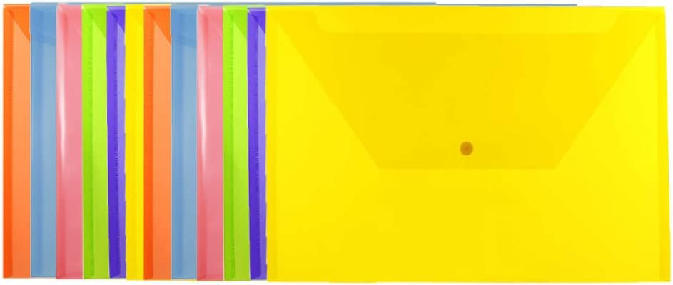 JAM PAPER Plastic Envelopes with - Closure overseas New color Booklet Snap Legal