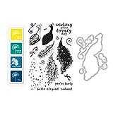 Hero Arts Color Layering Peacock Bundle Rubber Stamp, Die & Ink Pad Set (SB139)