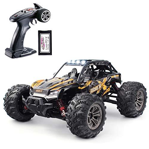 Hosim High Speed 24MPH 4WD 2,4 GHz Rennwagen 9137, 1:16 Scale 4x4 Offroad RC Trucks mit leichten elektronischen Monster Truck Dune Buggy Hobby Spielzeug für Kinder & Erwachsene (Orange)