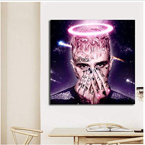 A&D Lil Peep Tattoo Hellboy Crybaby Gaming Poster Gemälde auf Leinwand Moderne Kunst Dekorative Wandbilder Home Decoration -50x50cmx1pcs- No Frame