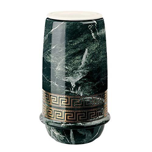 REAL VOTIVA FONDERIE D'ARTE Blumenständer aus Porzellan - griechischer Stil - Linie Saturno (21 cm, Boden und Innen Kupfer)