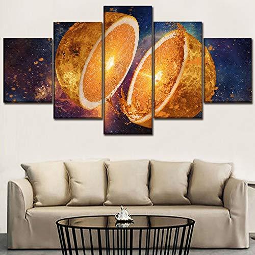 Zaosan Druckfarbe spritzwasser 5 stücke Obst orange Poster Home Moderne Dekoration Wohnzimmer kreative wandkunst Rahmen