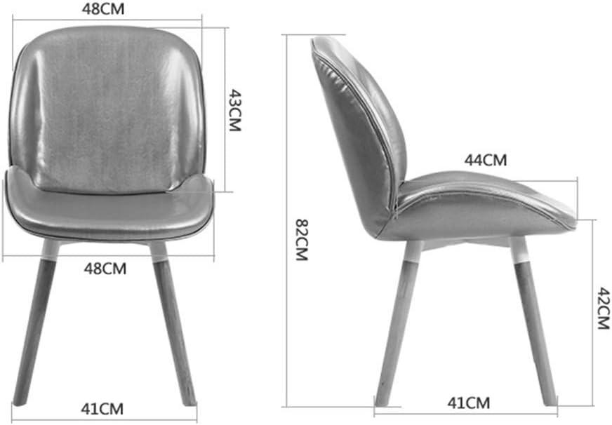 HXF- Chaise de salle à manger, chaise de bureau simple, dossier créatif, chaise de loisirs, chaise de salle à manger pour adulte durable (couleur : blanc crème) Argenté.