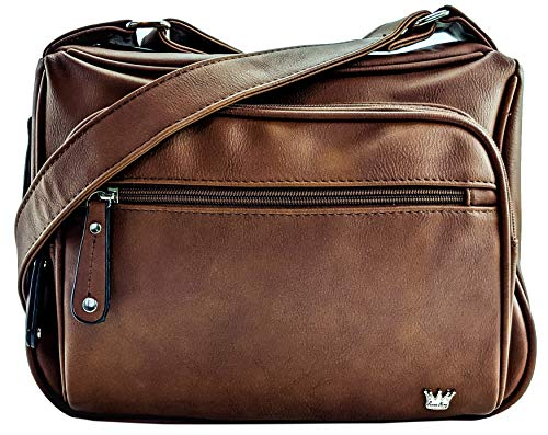 Purse King Magnum Dark Brown Concealed Carry Handbag