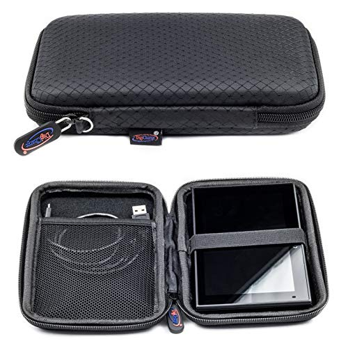 Digicharge Slim Hard Carry Case for Garmin Drive 60LM 61LMT-S DriveSmart 65 60 LM 61 LMT-S Fleet 660 670V 670 Camper 660LMT-D 660 Nuvi 67LM 68LM 67 68 2659LM 2699LMT-D 2699 2659 with Hand Strap