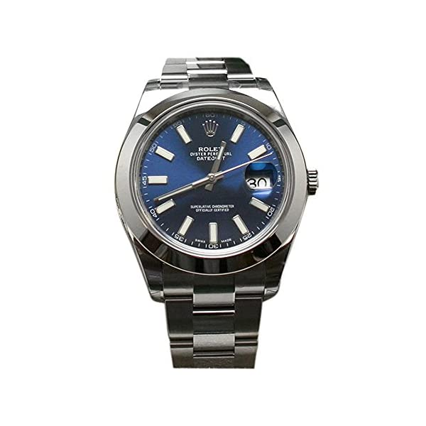 Fashion Shopping Rolex Datejust II 41 Blue Dial Index Dial Steel Mens Watch 116300