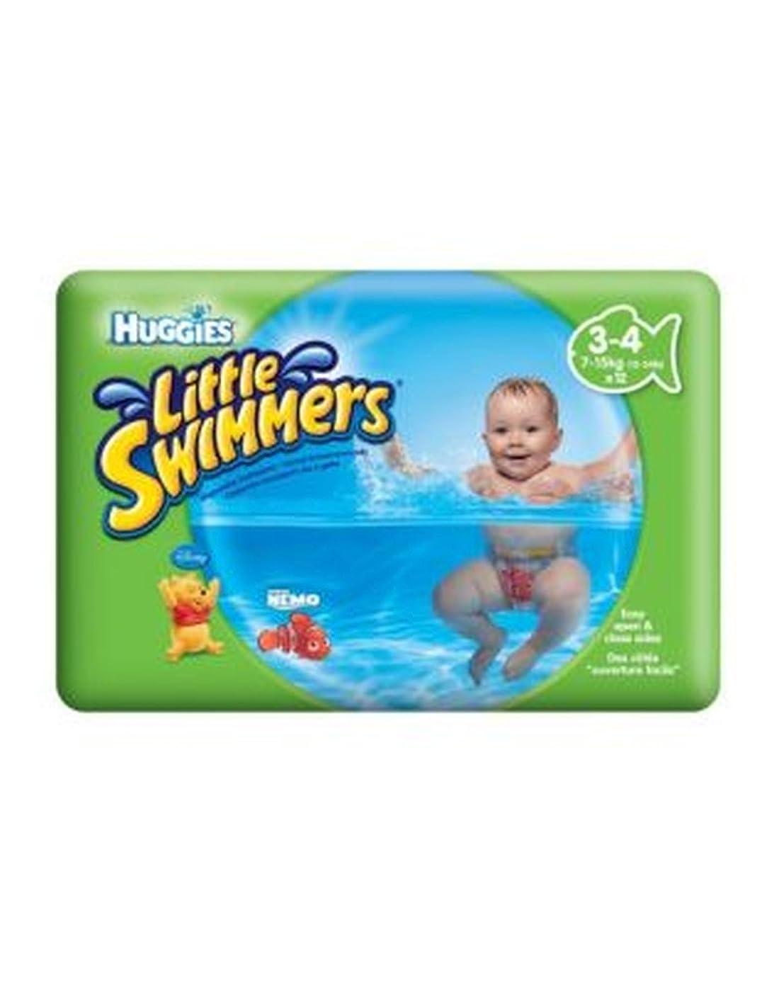 叙情的なフォアマン競争力のあるHuggies?少しスイマーは、3-4(7キロ - 15キロ)のサイズ - 12パンツ (Huggies) (x2) - Huggies? Little Swimmers Size 3-4 (7kg-15kg) - 12 Pants (Pack of 2) [並行輸入品]