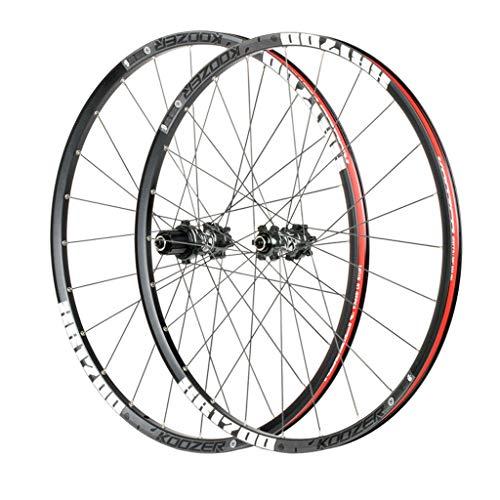 CHICTI 27.5 Pulgadas Ciclismo Wheels, Doble Pared V-Brake Ultra-Ligeras 24 Agujeros Pared MTB Rim para 8/9/10/11 Peso: 1720g Deportes (Color : B, Size : 27.5inch)