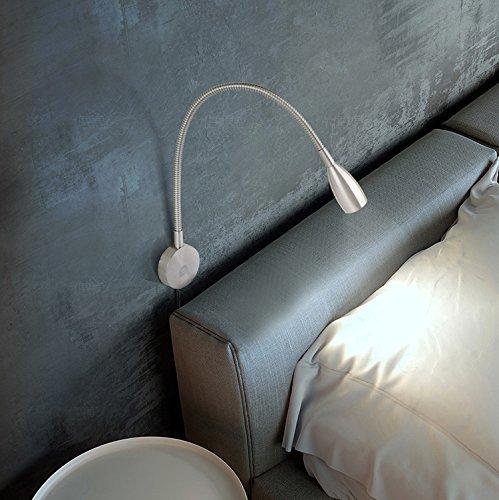 Leselampe Wandmontage LED Bettleuchte Schwanenhals - 2
