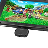 Golvery Bluetooth V5.0 Adapter for Nintendo Switch & Lite, USB Bluetooth Transmitter for PS4, Plug & Play, Pass-Through PD High Speed Charging, Support in Game Voice Chat, No Audio Delay