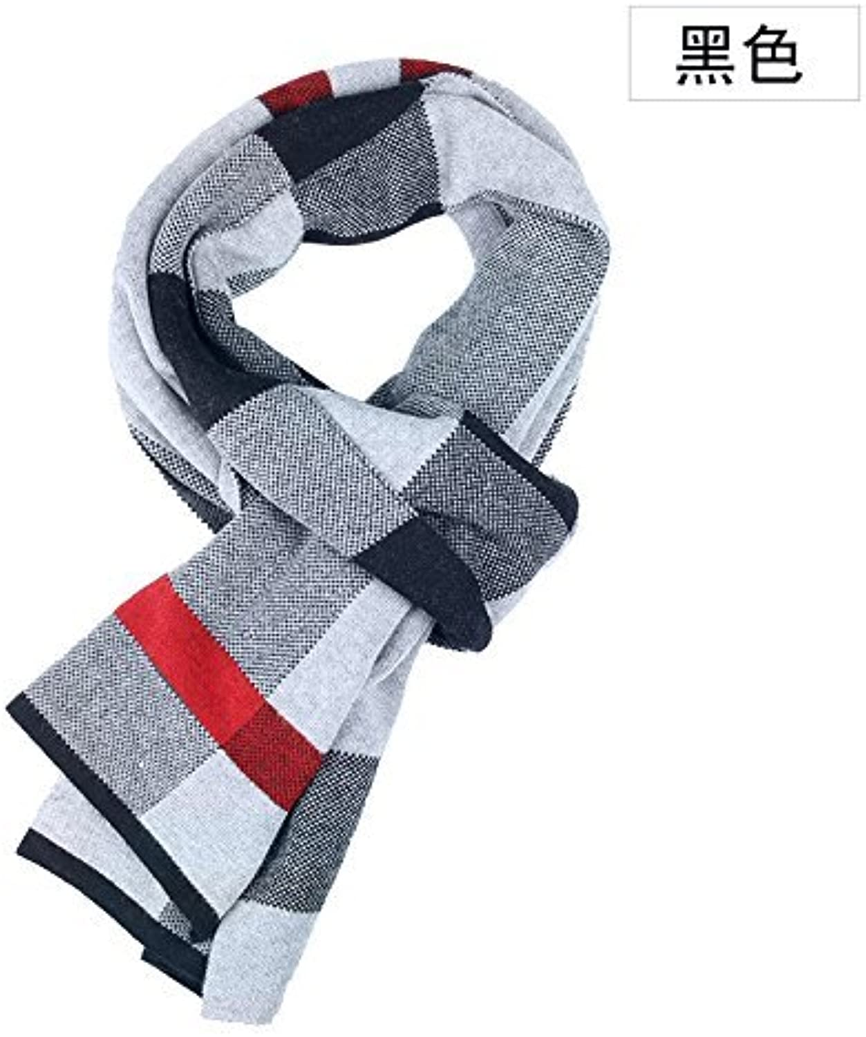 DIDIDD in Autumn and Winter Men'S Scarves Warm Knit and Students Thicken