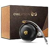 OWL VISION - Hochwertige Fahrradklingel Mini [universal passend] Fahrrad Klingel Retro sehr klarer Klang - Premium Fahrradglocke für...
