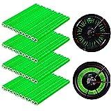 CYWVYNYT Riflettori per raggi della bicicletta, riflettori per raggi della bicicletta, 48 pezzi, riflettori per raggi della bicicletta, riflettore per bicicletta a 360°, raggi (verde)