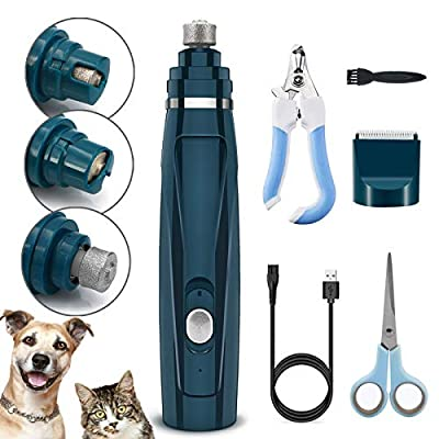 Fvntuey Pet Nail Grinder and Hair Clippers 2 in...