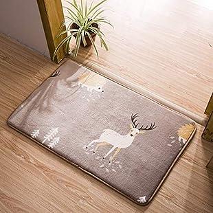 GAIHU Non-Slip Entrance Doormat,Absorbs Mud Doormat/Bathroom Non-Slip Mat/Solid Color Doormat/Absorbent Bath Rug,L,80 * 100Cm(31 * 39Inch)
