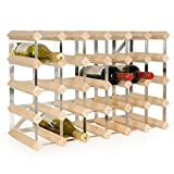 Weinregal/Flaschenregal System TREND, für 30 Fl, Holz Kiefer natur, komplett montiert, stapelbar/erweiterbar - H 42 x B 61,2 x T 22,8 cm