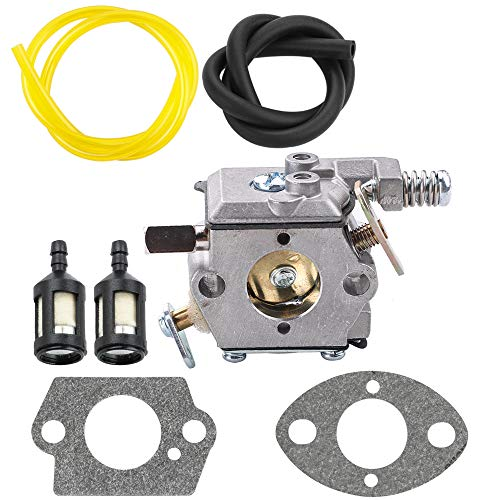 Carburetor Carb for Ice Auger TC200 TC300 2-Cycle Engine Tecumseh 640347 640347A TM049XA with Fuel Line Parts Kit