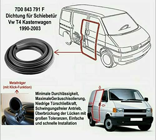 Schiebetür Dichtung T4 Transporter KASTEN 1990-2003 Schiebetürdichtung Gummidichtung 9015284782 (Nicht für BUS/MULTIV.)