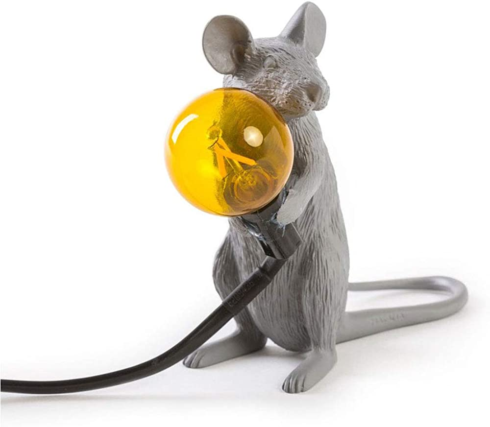 Seletti mouse lamp,lampada a forma di topolino,edizione speciale,in resina termoplastica 14939