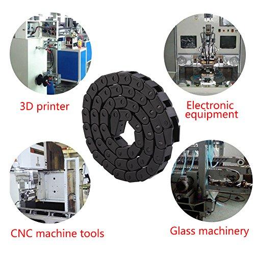 Schleppkette 10 * 10mm 1000 mm,Jectse R28 Schwarze PA66 Nylonkabel Schleppketten Schleppleine Drahtfördermaschine für 3D-Drucker, CNC-Werkzeugmaschinen und elektronischen Geräten