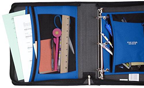 Five Star Zipper Binder, 2 Inch 3 Ring Binder, Xpanz Expandable with Interior Pockets, Teal Circles (73234) Photo #4