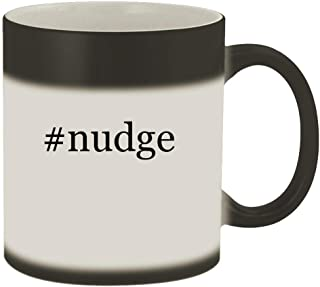 #nudge - 11oz Hashtag Magic Color Changing Mug, Matte Black
