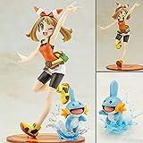 Dibujos Animados Pokemon Pikachu May con Mudkip Figura De Acción Juguetes Modelo Juguetes para Niños Cumpleaños 19Cm