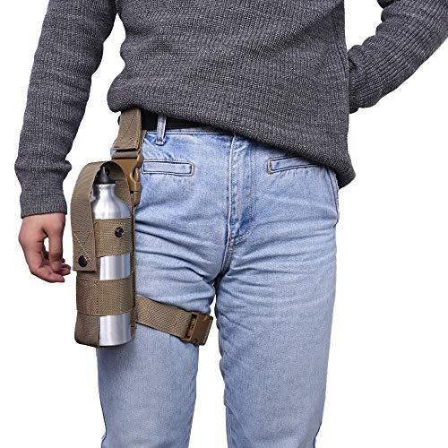 MiOYOOW Thigh Pepper Spray Bag, MK9 Drop Leg Water Bottle Holster Adjustable Open Top Water Bottle Sleeve Handy Extinguisher Holder for Left/Right Leg