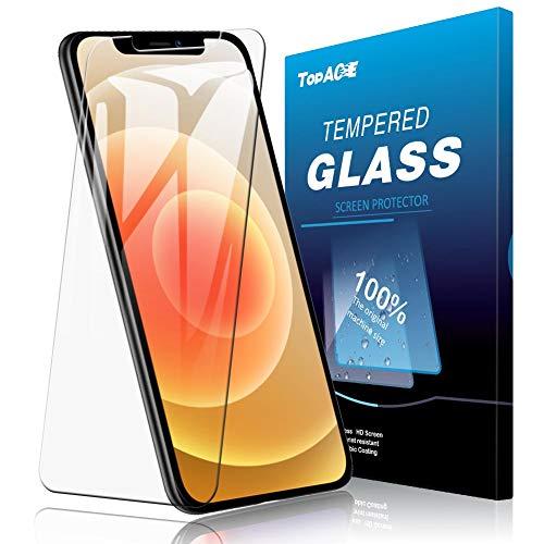 【2枚セット】TopACE for iPhone 12 mini ガラスフィルム 日本旭硝子製 強化ガラス 液晶保護フィルム 気泡防止 自動吸着 防指紋 高透明度 iPhone12mini フィルム 5.4インチ 2020 対応
