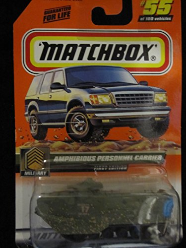 Amphibious Personnel Carrier (Green/mud Splatter) Matchbox #55 Military