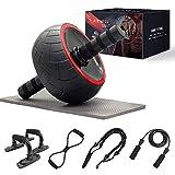 shine future Rueda AB Roller, 8 Piezas AB Wheel Roller Kit, 5 en 1 Entrenadores de Fuerza Central y Abdominales Conjuntos de Equipos de Entrenamiento para Ejercicio Gimnasio en casa