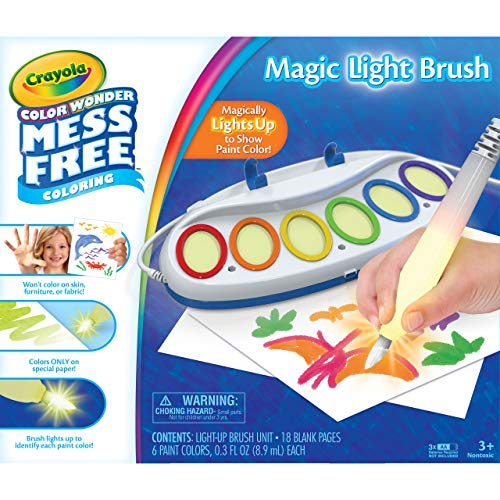 Crayola Color Wonder Magic Light Brush, Mess Free Painting, Toddler Toys, Gifts for Kids, Ages 3, 4, 5, 6