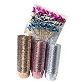Artboil 150 Pcs Foil Cupcake Paper Liners Metallic Muffin Paper Cases Baking Cups - 3.5 ounce Party Standard Size Treat Cups w/60pcs Cupcake Topppers - No Baking Tray Needed