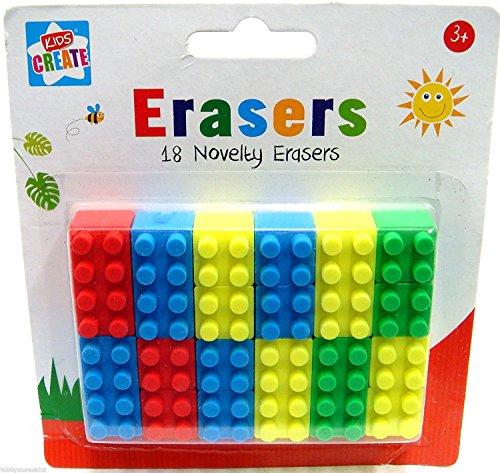 18 Novelty Lego Brick Erasers