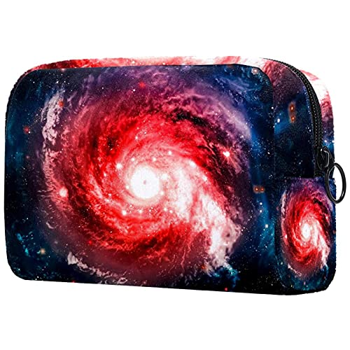 Bolsa de Maquillaje Espacio Galaxia Nebulosa Bolsa Cosmetica Portátil Viaje de Maquillaje Organizador Bolsa de Almacenamiento de Maquillaje 18.5x7.5x13cm