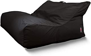 INDOSOUL Outdoor Bean Bag Chair   Santa Cruz Premium Double   Outdoor Living and Furniture   Cover Only - Requires Filling   Portable Luxury Beanbag Made of Premium Material (Charcoal)