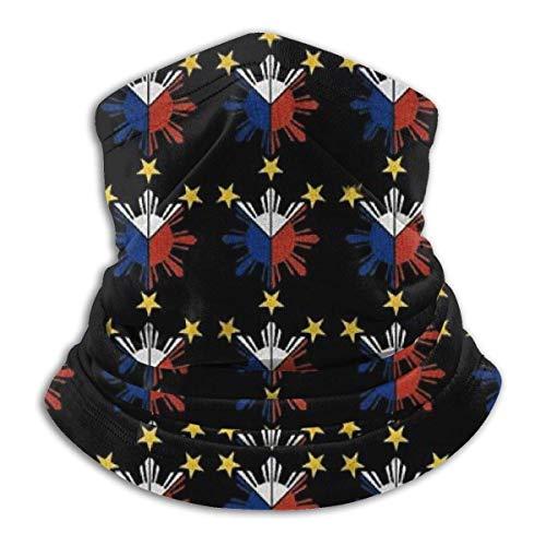 Lsjuee Unisex Filipino Flag Sterne und Sun Neck Warmer Atmungsaktive Face Guards...